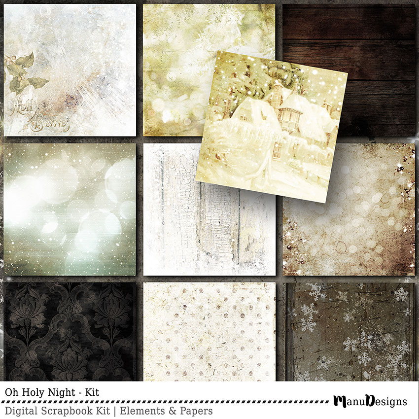 Christmas digital scrapbook papers