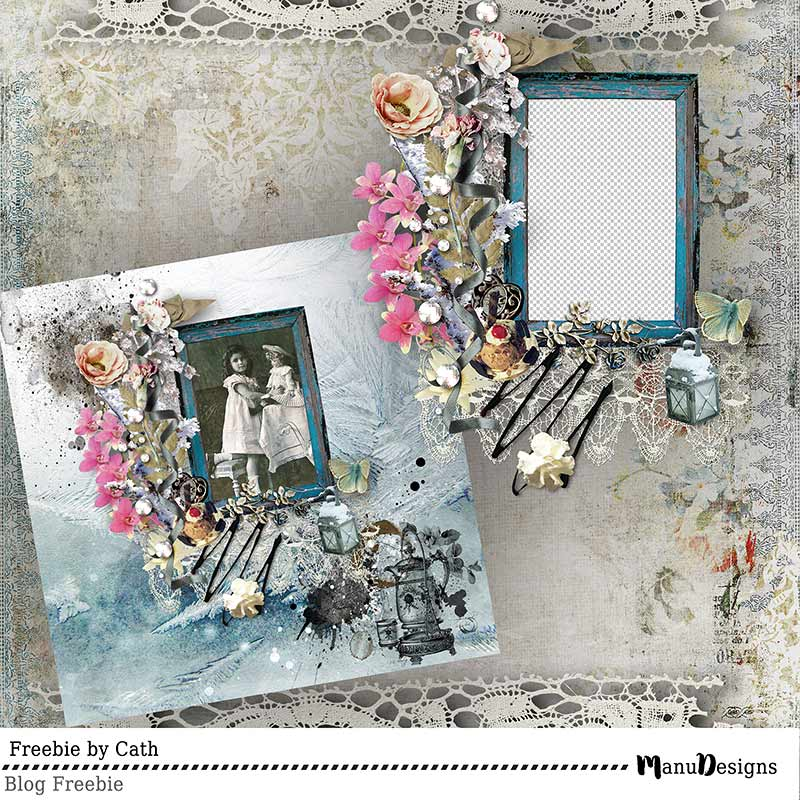 Cluster Frame Freebie by Cath
