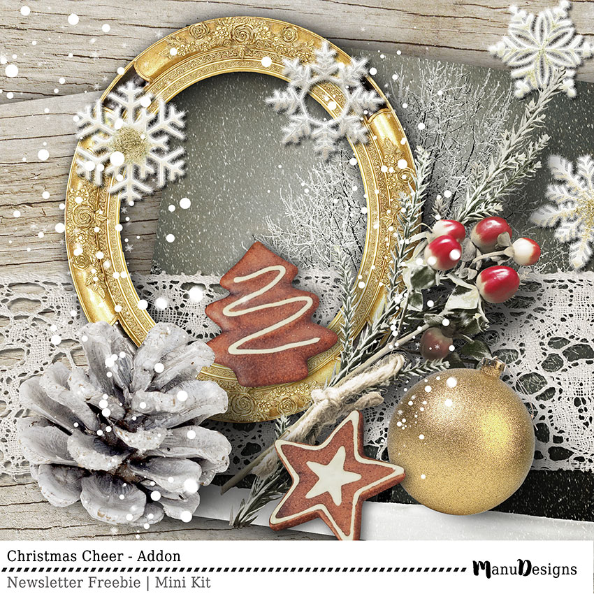 Christmas Scrapbook Freebie Mini Kit