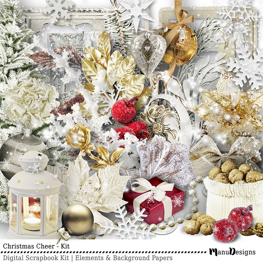 Christmas Cheer digital scrapbook kit