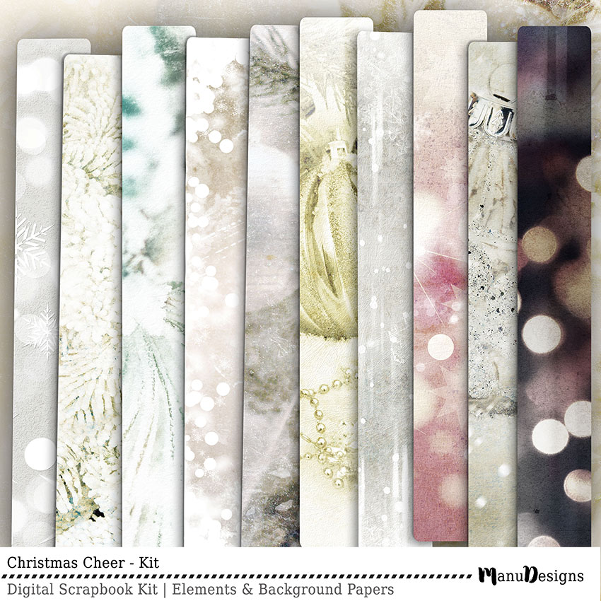 Christmas Cheer digital scrapbook papers