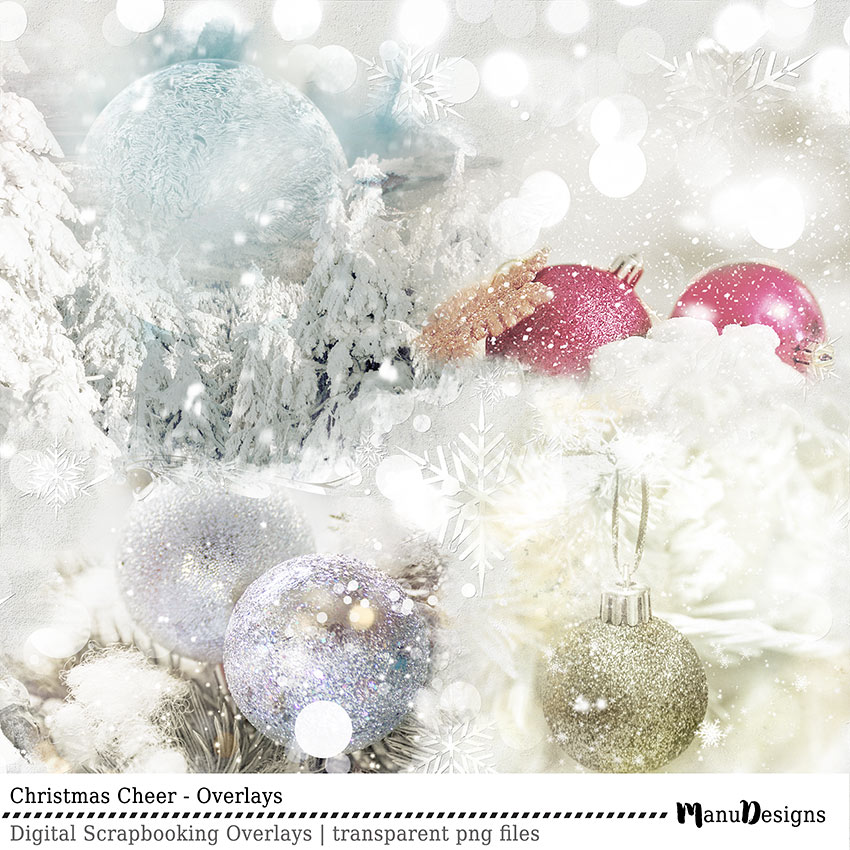 Christmas Cheer Digital Overlays