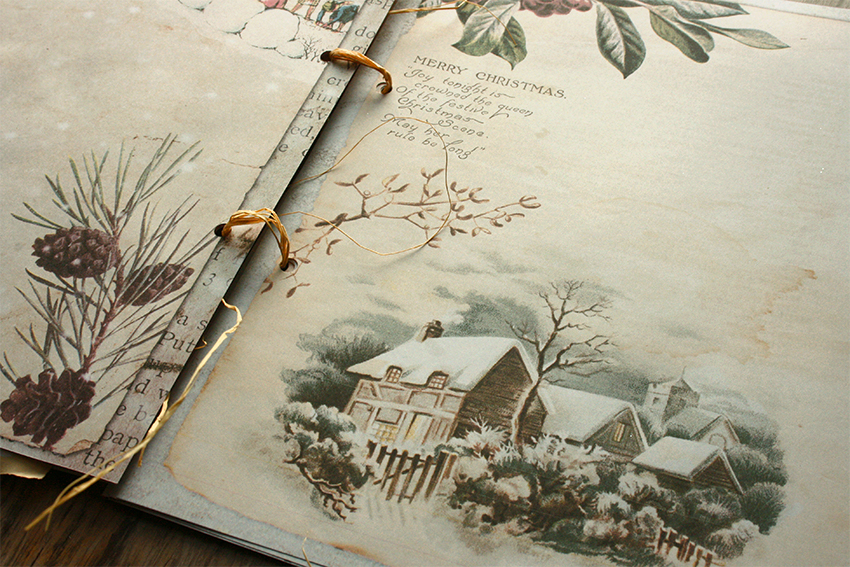 Junk Journal Christmas Printable Papers 8x10