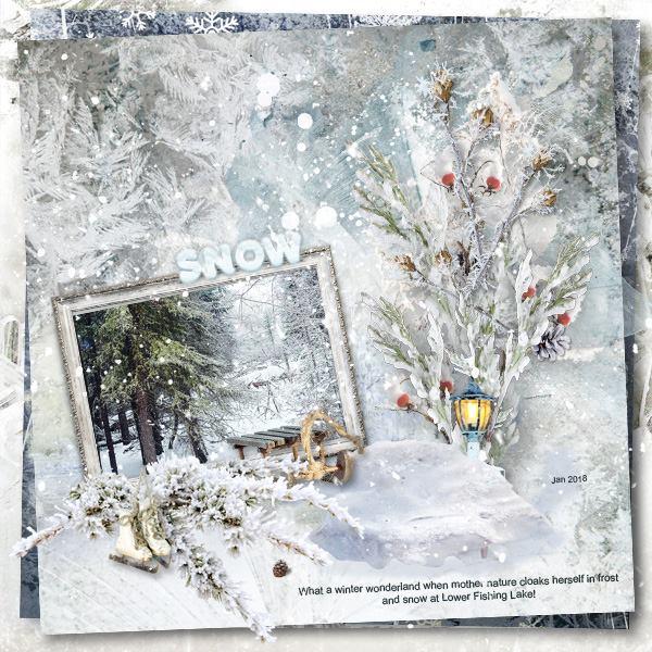 Winter Scrapbook Inspiration Layout
