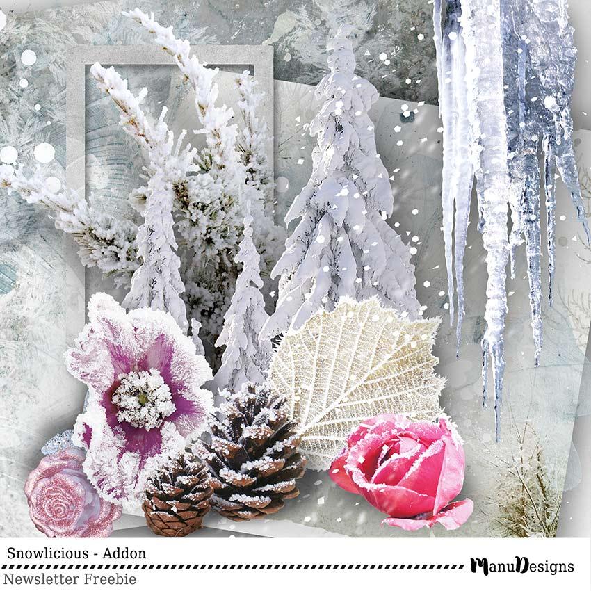 digital winter scrapbook freebie mini kit