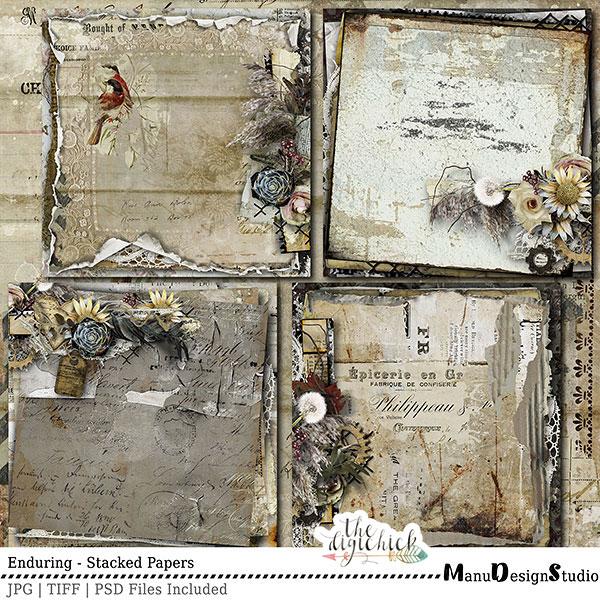 Enduring - Vintage Digital Scrapbooking
