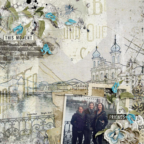 Scrapbook Inspiration Layout from angie