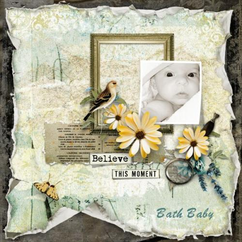 Scrapbook Inspiration Layout from janet