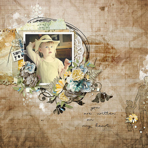 Scrapbook Inspiration Layout from jenny