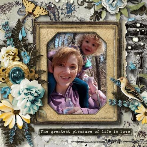 Scrapbook Inspiration Layout from sheryl