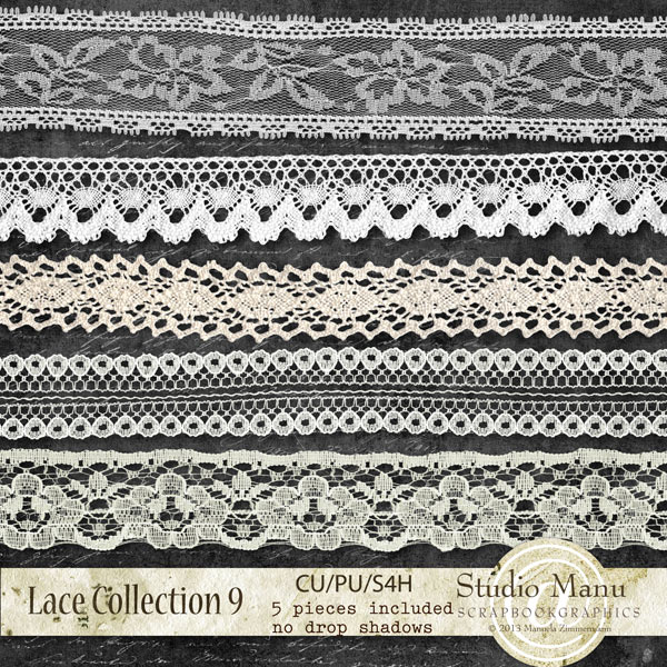 digital scrapbooking designer resource commercial use lace collection