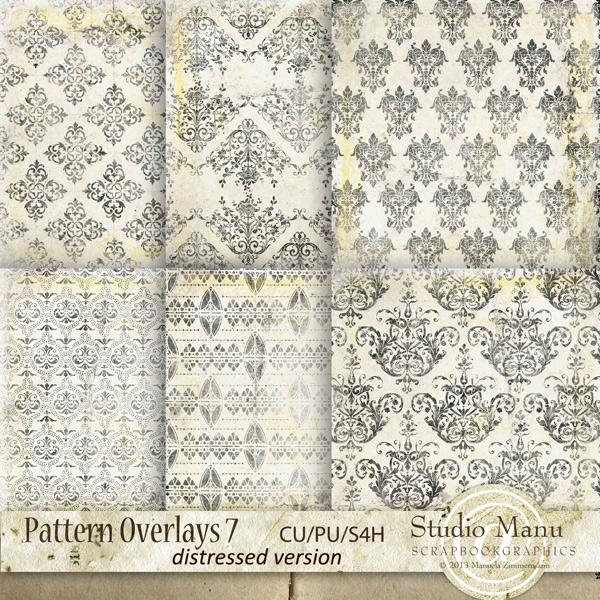 Designer resource pattern ornate digital scrapbooking overlays