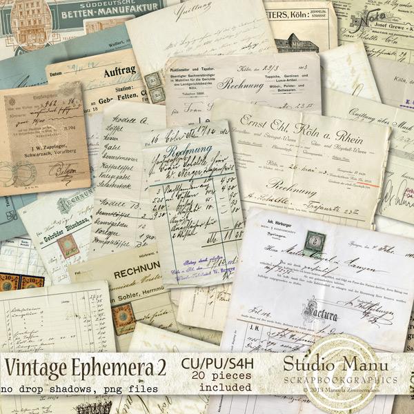 digital scrapbooking commercial use vintage ephemera