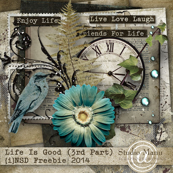 LIfe Is Good Scrapbooking Freebie Collection by Studio manu