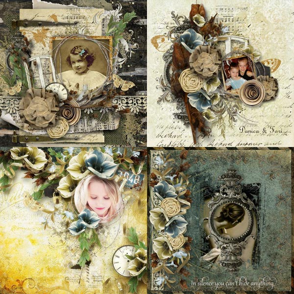 scrapbook digital inspiration pages