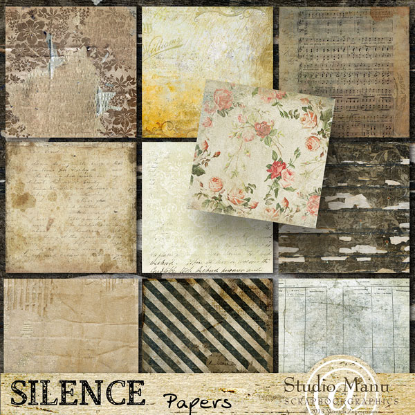 digital scrapbooking paper pack vintage