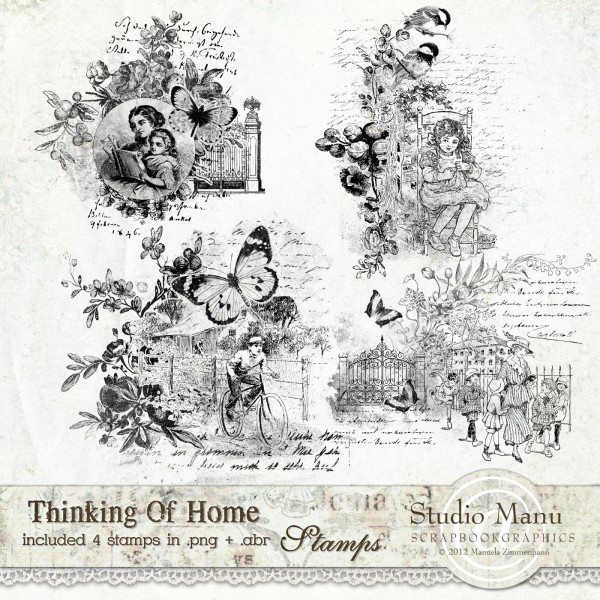 Thinking Of Home - Vintage Stamps