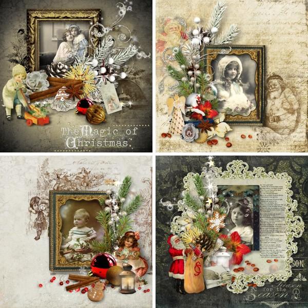 Vintage Christmas 3 - Cluster Inspiration