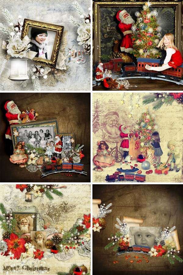 Inspiration Layouts CT Vintage Christmas 3