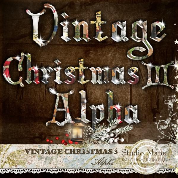 Vintage Christmas 3 - Alpha