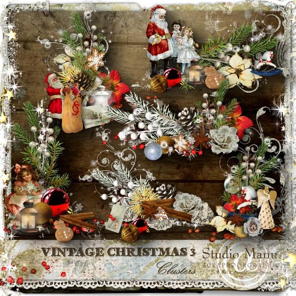 Vintage Christmas 3 - Clusters