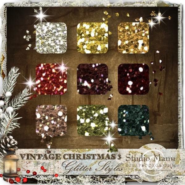 Vintage Christmas 3 - Glitter Styles