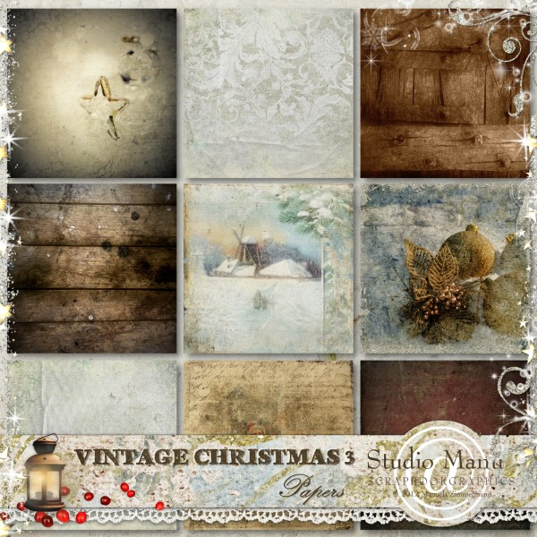 Vintage Christmas 3 - Papers