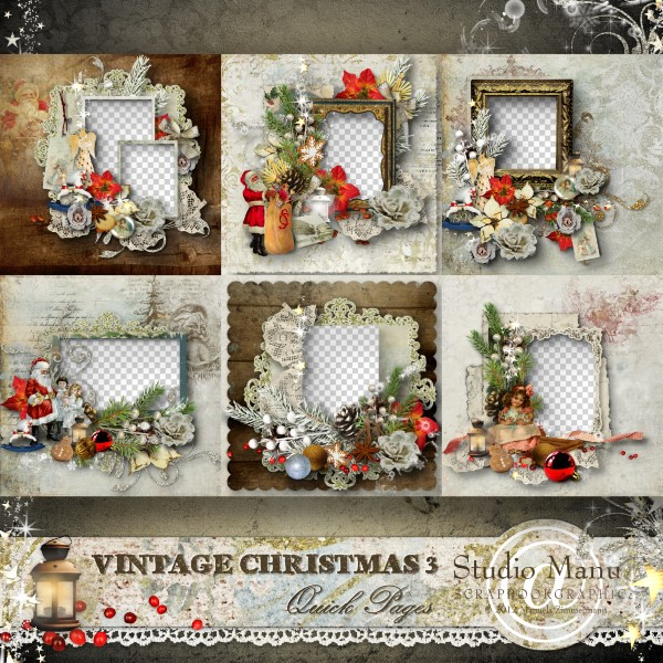 Vintage Christmas 3 - Quick Pages