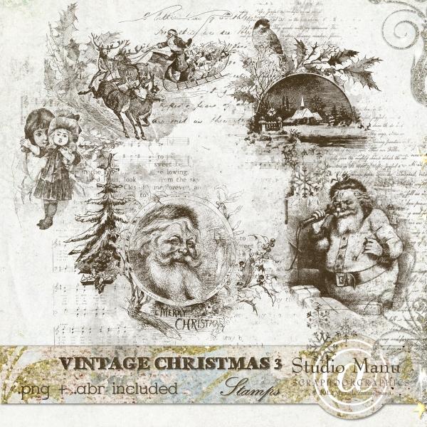 Vintage Christmas 3 - Stamps