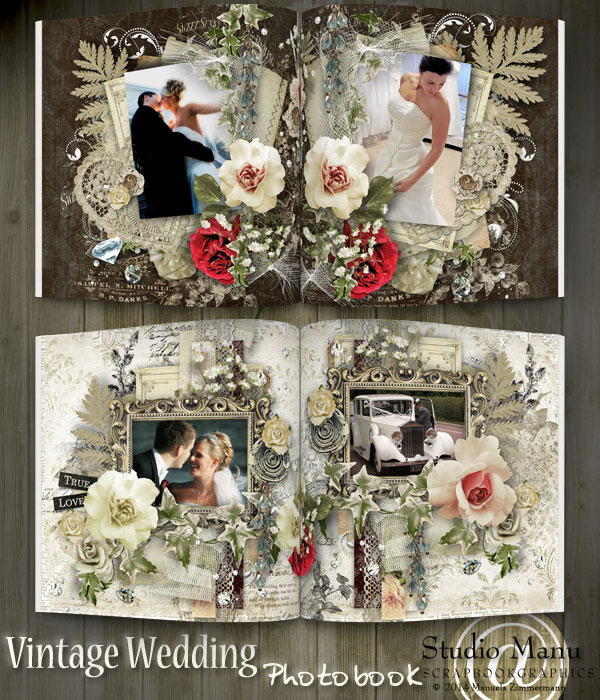 Vintage Wedding Photo Book - Pages Inside