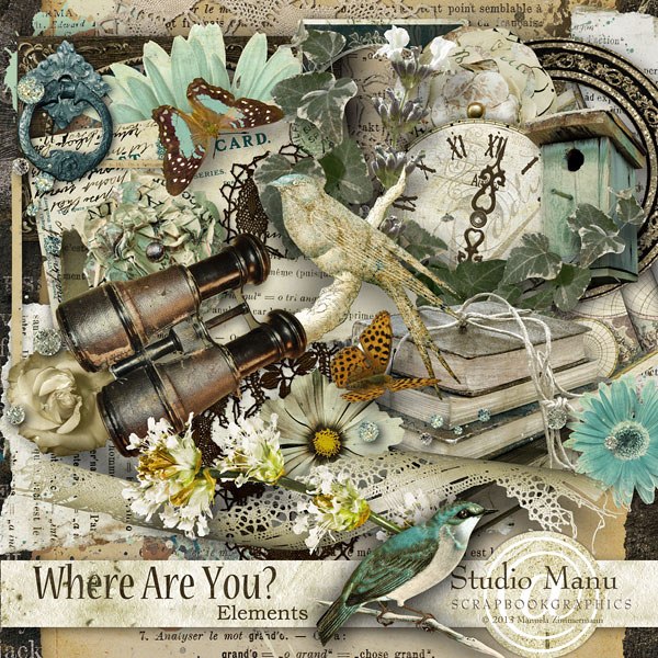 Where Are You? - Digital Scrapbooking Page Kit