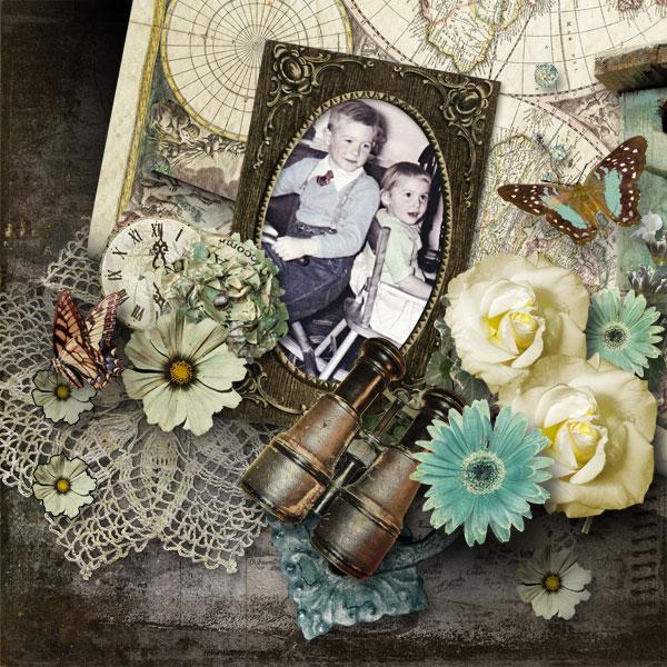 Digital Scrapbook Layout by Janet