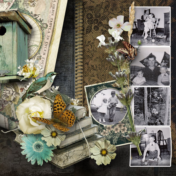 Scrapbooking Inspiration Page by Janet