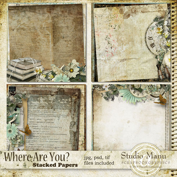 Where Are You? - Stacked papers