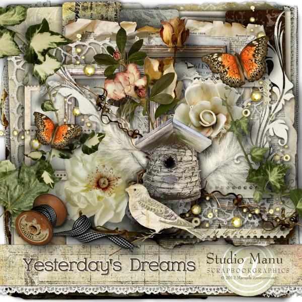 Yesterday's Dreams - Digital scrapbook Kit