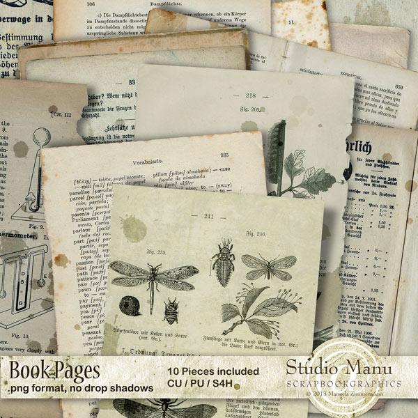 CU Antique Book Pages