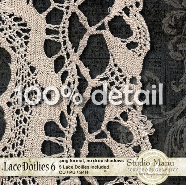 Lace Doilies Detail