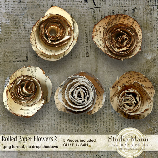 CU Rolled Paper Flowers