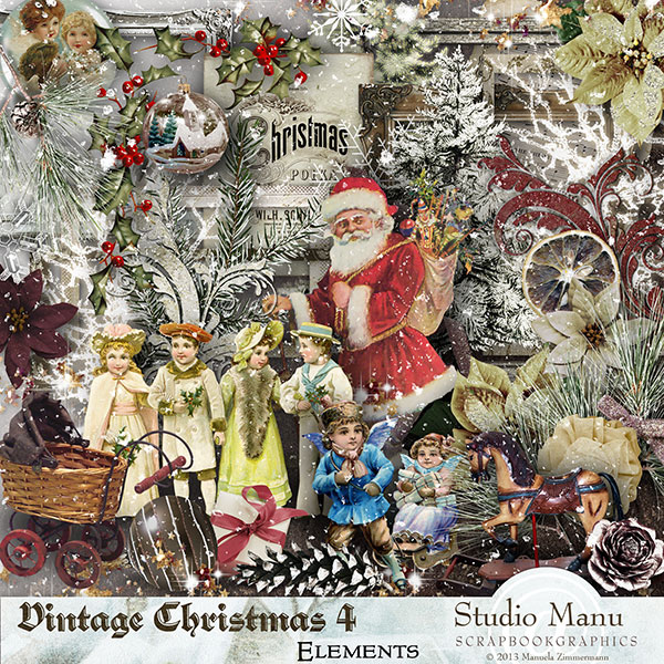 Vintage Christmas 4 Scrapbook Collection