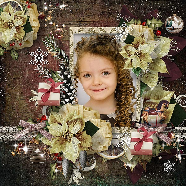 Scrapbook Layout by irenchen Vintage Christmas
