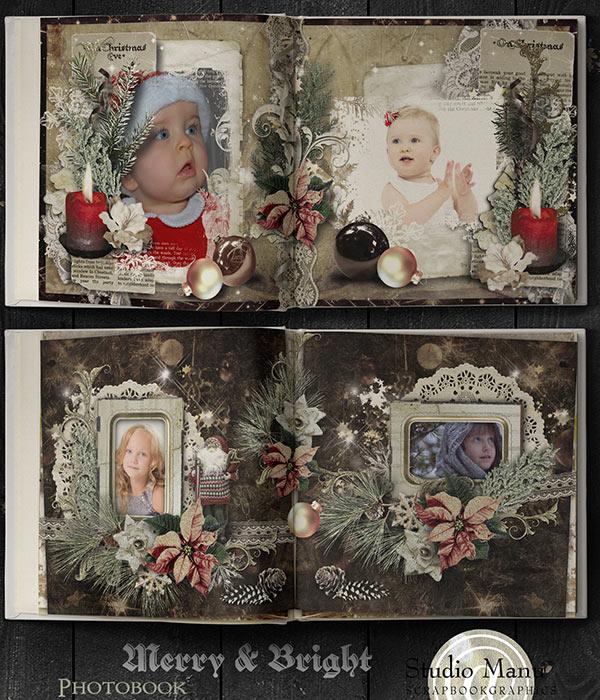 christmas photo book scrapbooking digital