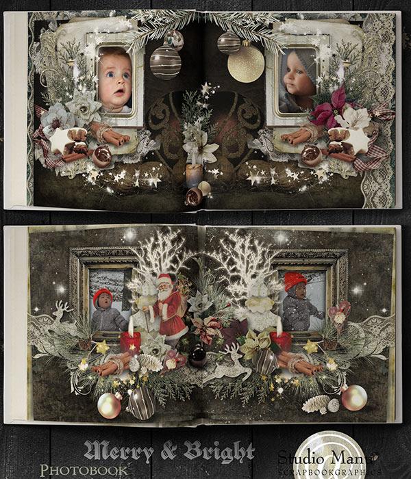 christmas scrapbook photobook