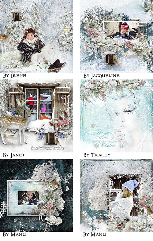 Inspiration Layouts Winter Scrapbook Page Kit
