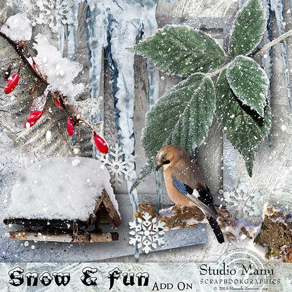 Studio Manu - Newsletter Freebie Mini Kit Winter