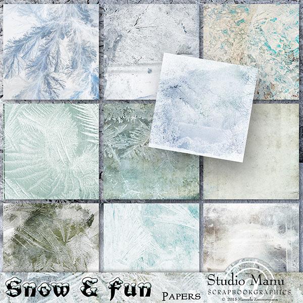 Scrapbooking winter backgrounds