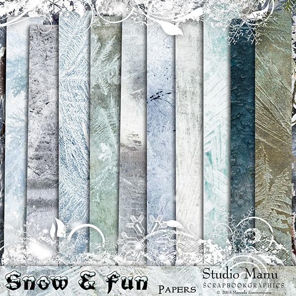 Digital scrapbooking winter page kit