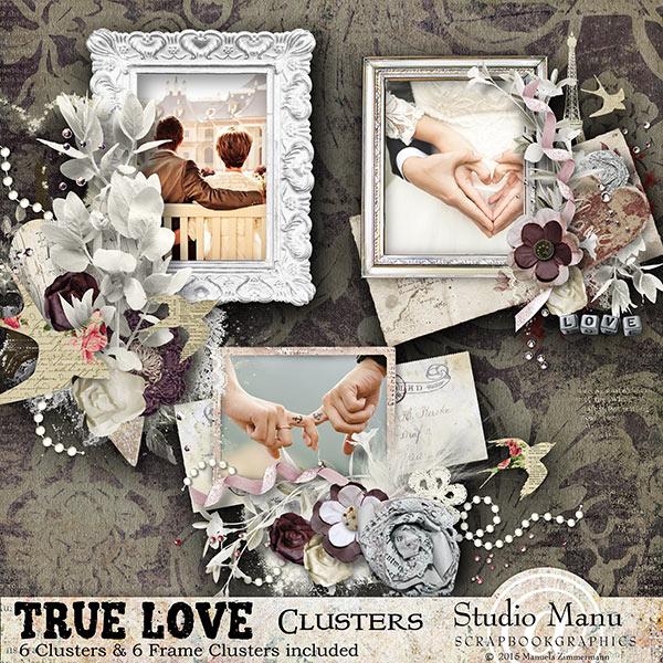 True Love Valentine's Day Scrapbooking Clusters