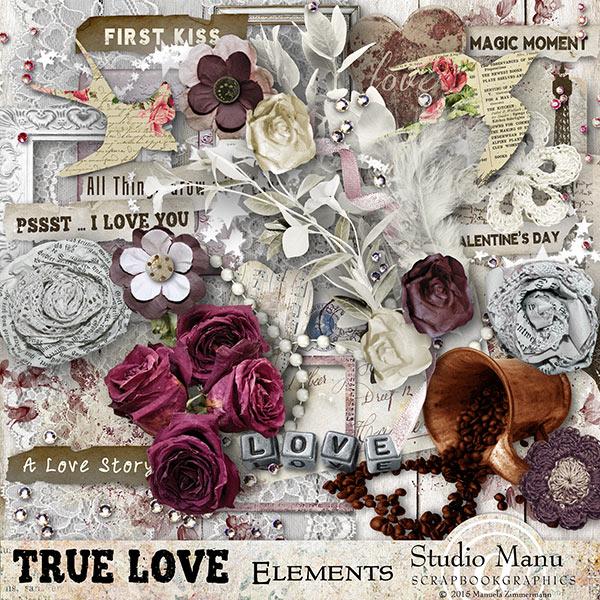 True Love - Valentine's Day Scrapbook Collection