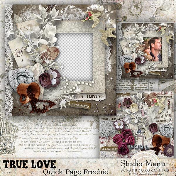Quick Page Freebie Valentine's Day