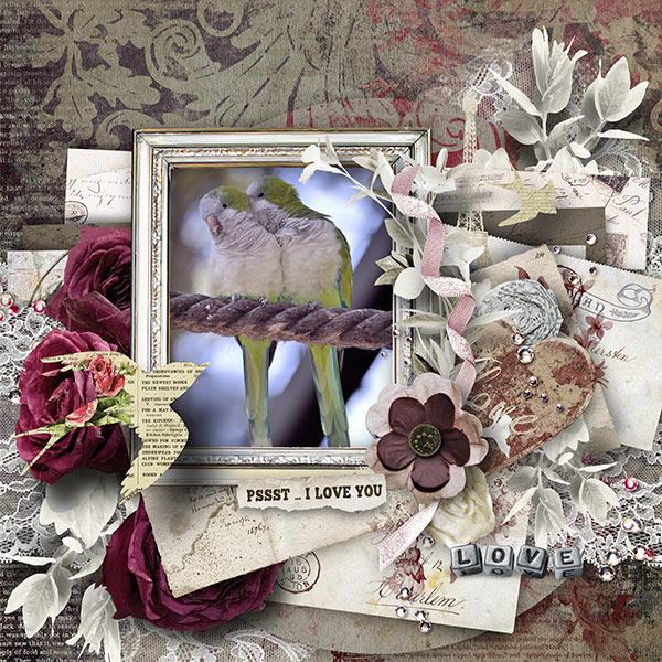 True Love Digital Scrapbooking Inspiration Layout